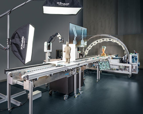 The world's unique 3D scanning facility for cultural artefacts, CultLab3D, in the lab at Fraunhofer IGD © Fraunhofer IGD