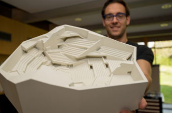 3D printed model of the Berlin Philharmonic Concert Hall © Fraunhofer IGD