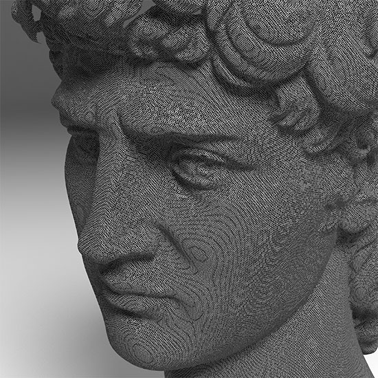 David (replica), scanned with Real-Time Structured-Light Scanner © 3D model: Fraunhofer IGD